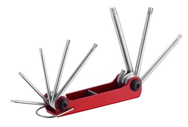 Folding Star tamperproof key set 8pc