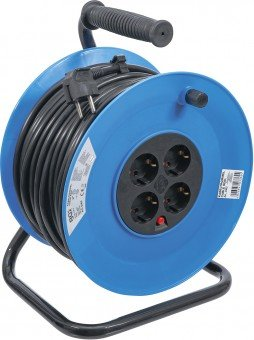 Cable Reel 50 m 3x1,5 mm² 4 Socket Outlets IP 20 3000 W