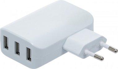 Universal USB Charger 3 USB ports max 3.4 A total max. 2.4 A / USB 110 - 240V