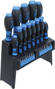 Screwdriver Set with Bit Assortment in a Plastic Stand 29 pcs