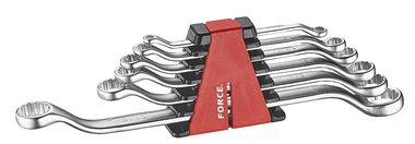 Offset ring wrench set 6pc (45° bowed)