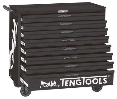 Tool trolley black 8 drawers