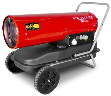 Hot air blower diesel 50kw with remote