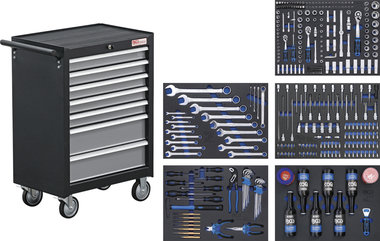 Workshop Trolley 7 Drawers with 354 Tools