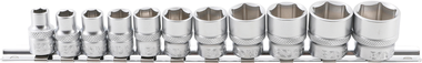 11-piece Socket Set, 3/8, 6-pt., in INCH, 5/16- 7/8