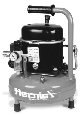 Low-noise airbrush compressor 8 bar, 9 liters