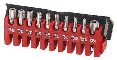 Bit set 5-sided Resistorx TS 10-piece
