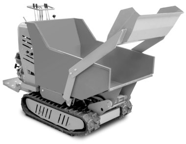 Mini hydrostatic crawler dumper with cargo box 500kg