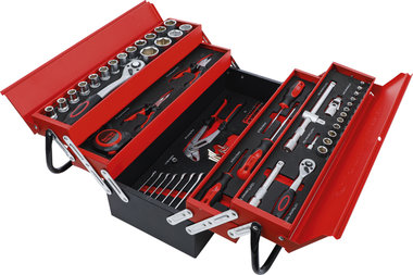 Metal workshop Tool Case incl. Tool Assortment 86 pcs