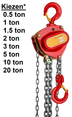 Hand chain hoist 0.5t - 20t