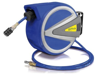 AUTOMATIC compressed air reel with 15m+1,5m PU with stop function