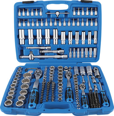 Socket Set Gear Lock 6.3 mm (1/4) drive/10 mm (3/8)/12.5 mm (1/2) 192 pcs