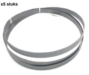 Band saw blades hss - 13x0.65,1470 mm - fixed teeth, toothing -14 x5 stuks