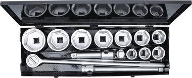 Socket Set 25 mm (1) Drive 36-80 mm 15 pcs