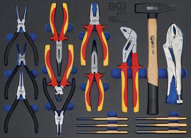 Pliers, Parallel Pin Punch Set, Hammer 17 pcs