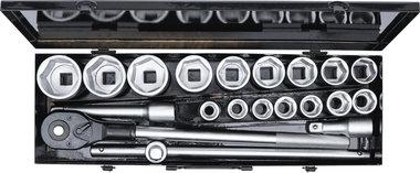 Socket Set 20 mm (3/4) Drive 19-50 mm 20 pcs