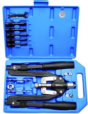 Professional Riveter Set, long Arm, 3.2-6.4 mm