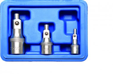 Extension Bar Set with magnetic holders 6.3 mm (1/4) / 10 mm (3/8) / 12.5 mm (1/2) 3 pcs.