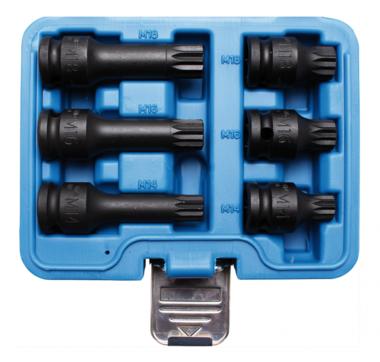 Impact Bit Socket Set 12.5 mm (1/2) drive Spline
