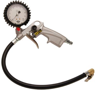 Pistol-Grip Air Inflator calibrated 0 - 10 bar