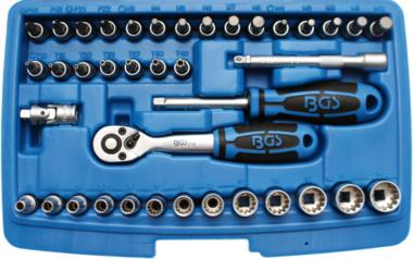 Socket Set, Gear Lock 6.3 mm (1/4) drive 39 pcs