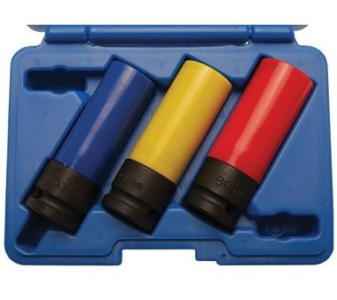 Protective Sleeve Impact Socket Set, 1/2, 17, 19 and 21 mm