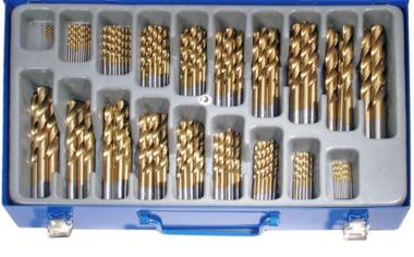 170-piece Twist Drill Set, HSS, Titanium Coated