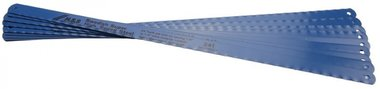 10 Hacksaw Blades 13 mm wide, 300 mm long, flexible HSS