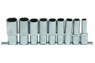 9-piece Deep Socket Set, 12-pt., 1/2