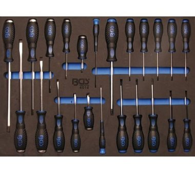 3/3 Tool Tray for Workshop Trolleys: 23-piece Screwdriver Set