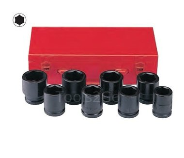 3/4 Impact socket set 8pc