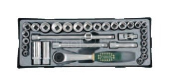 3/8 Socket set (MM & SAE) 32pc