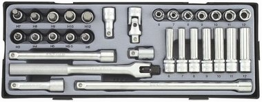 3/8 Socket combination set 31pc