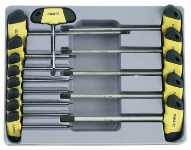 Star tamperproof screwdriver T handle set 14pc