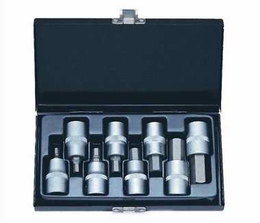 1/2 Hex socket bit set 8pc