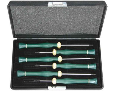 Hex jeweler screwdriver set 6pc