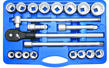 Socket Set 20 mm (3/4) Inch sizes 21 pcs