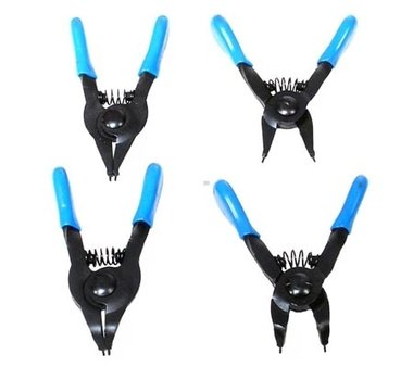 Circlip Pliers Set for small circlips 80 mm 4 pcs
