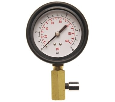Gauge with Valve for Oil Pressure Tester BGS 8007