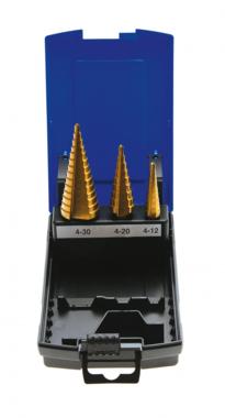 Stepped Hole Cutter, Titanium Coated, 4-30 mm