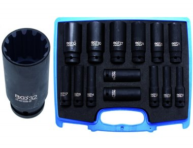 Impact Socket Set Gear Lock | 12.5 mm (1/2) drive | 10 - 32 mm | 14 pcs.