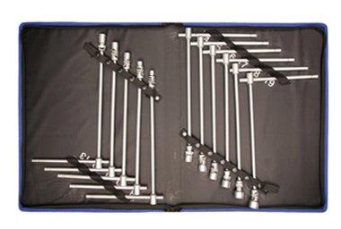 11-piece T-handle Universal Joint Socket Set 8-19 mm