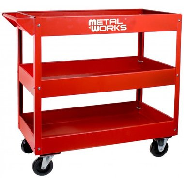 Workshop trolley with 3 shelves