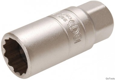 Spark Plug Socket with Rubber mount, 12-point (3/8) Drive 18mm