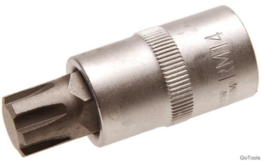 Bit Socket 12.5 mm (1/2) drive Spline (for Ribe) M14