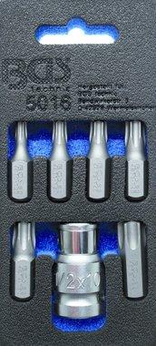 Screwdriver Bit Set   10 mm (3/8) drive   T-Star (for Torx)   7 pcs.