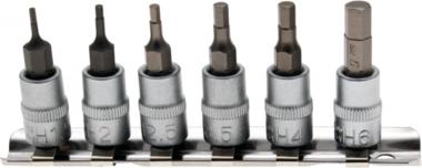 Bit Socket Set | 6.3 mm (1/4) drive | internal Hexagon 1.5 - 6 mm