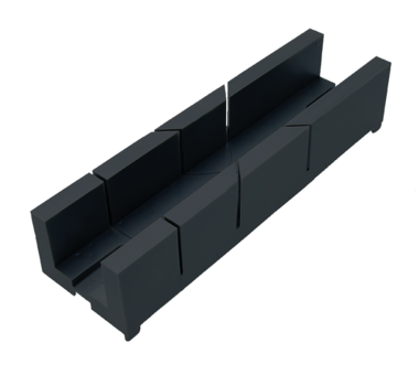 Plastic Miter Box 245 x 67 x 48 mm