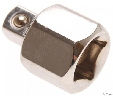Socket Adaptor internal square 12.5 mm (1/2) - external square 10 mm (3/8)