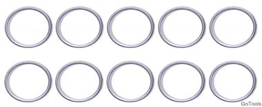 Seal Ring Assortment for BGS 126 Ø 17 / 20.5 mm 20 pcs.